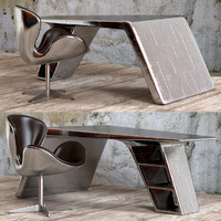 3d chair desk aviator