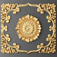 3d model of ceiling rosette frame