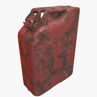 3d model jerrycan red