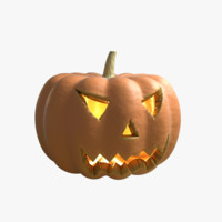 halloween pumpkin head 3d model