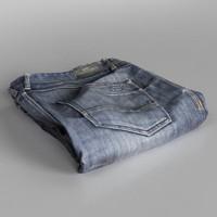 jeans blue folded 3d model