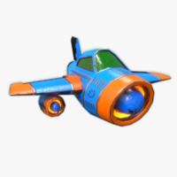 plane rigged games obj
