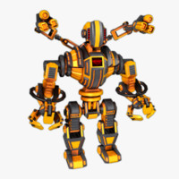 robot security 3d model