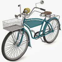 3d retro bicycle