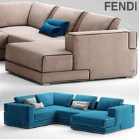 sofa sloane fendi 3d max