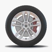 suv wheel 3d max