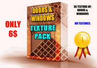 x36 DOORS & WINDOWS TEXTURE PACK