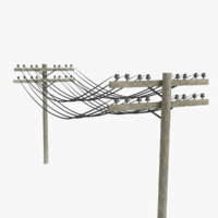 telephone poles 3d max