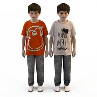 3d fashion clothing children baby s model