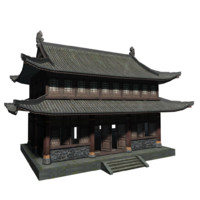 lowpolys ancient house 3d model