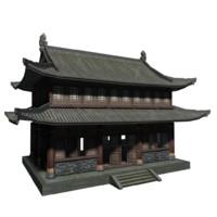 lowpolys ancient house 3d model