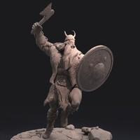 Viking Zbrush Sculpture