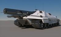 3d sci-fi tank concept