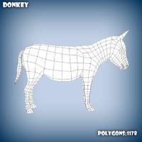 base mesh donkey 3d c4d