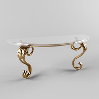 classical style table console 3d 3ds