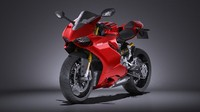 HQ LowPoly Ducati 1199 Panigale 2012
