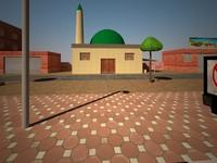 environment level : arab town 3d model
