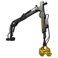 forwarder forestry crane modeled 3d max