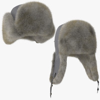 poses winter hat 03 3d model