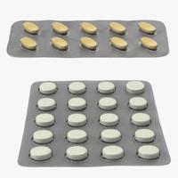 3d model blister pill