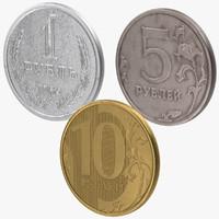 c4d ruble coins