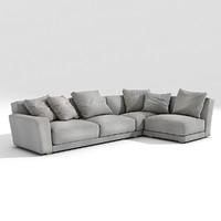 b italia luis sofa 3d model