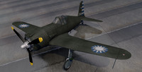 vultee p-66 vanguard fighter aircraft 3ds