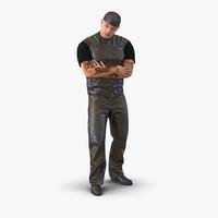 3d biker man generic 2 model