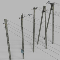 3d model wires concrete