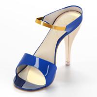 heels women sandals 3d max