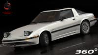 3d mazda rx-7 1985 interior model