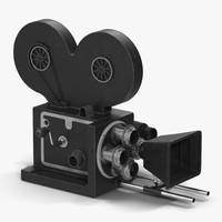 vintage video camera 3d model