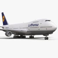 3d boeing 747 200b lufthansa