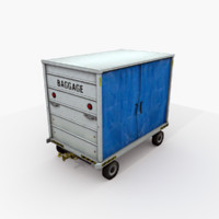 airport baggage cart 3d max