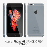 iPhone 6S Space Grey FBX OBJ