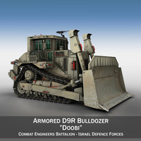 3d armored d9r bulldozer idf model