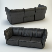 3d leather sofa edra