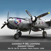 3d model lockheed lightning - vagrant