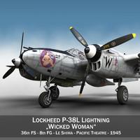 lockheed lightning - wicked 3d model
