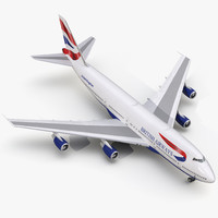 boeing 747 200b british airways 3d c4d