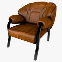 3d stylish modern chair leather