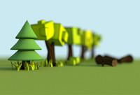 3d cartoon tree model