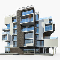 apartment house building 3ds