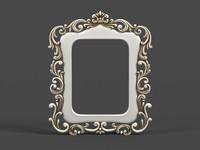 3d model of mirror cnc