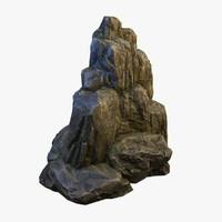 3d model mossy boulder 1