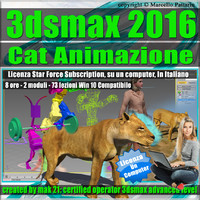 3ds max 2016 Cat Animazione Locked Subscription, un Computer