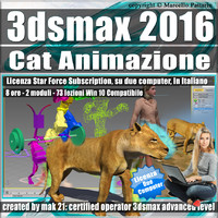 3ds max 2016 Cat Animazione Subscription 2 Computer