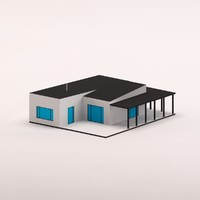 3d model cartoon modern house