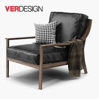 lady armchair verdesign 3d obj