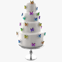 3ds cake butterflys